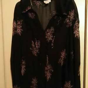Like New Sheer Blouse By Worthington Woman size 3X